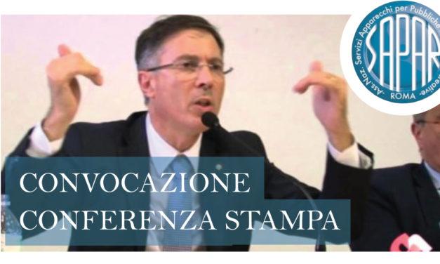 COMUNICATO CONVOCAZIONE CONFERENZA STAMPA SAPAR