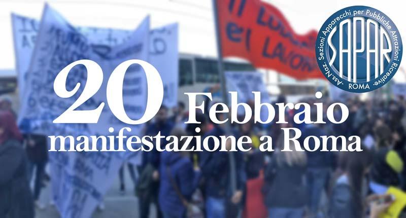 Settore in ginocchio, il 20 febbraio manifestazione a Roma
